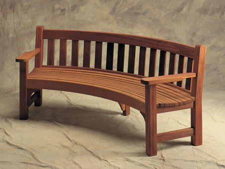 Curved Garden Bench Ethan Bench Garden Furniture