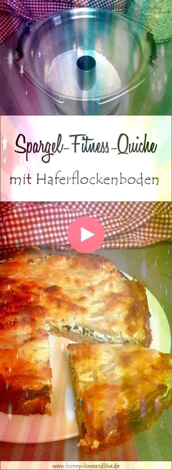 Protein Bomb Fitness asparagus quiche with oatmeal and Skyr Vegetarische Rezepte herzhaft kochen und...