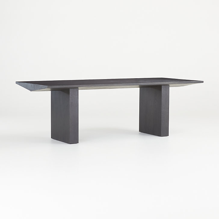 Van Charcoal Wood Dining Table Reviews Crate And Barrel Dining Table Stone Dining Table Wood Dining Table