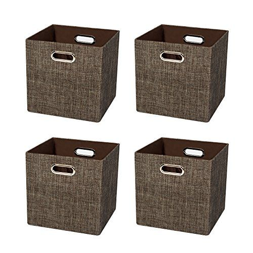 Posprica Foldable Storage Cubes Bin Organizer Basket Container Cabinet Drawer For Bedroom Closet Storage Bins Collapsible Storage Cubes Storage Bins Baskets