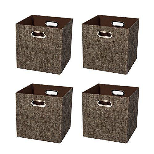 Posprica Foldable Storage Cubes Bin Organizer Basket Container Cabinet Drawer For Bedroom Closet Storage Bins Collapsible Storage Cubes Storage Bins Baskets