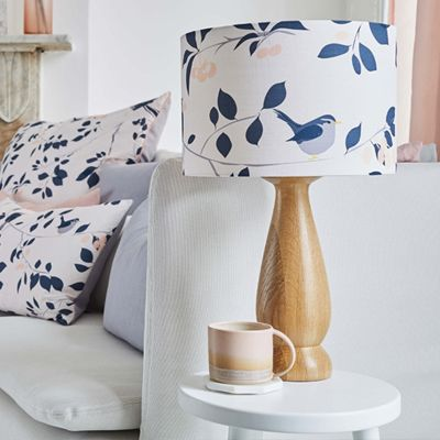 Wren and Cherry. Blush pink lampshade for the home by Lorna Syson