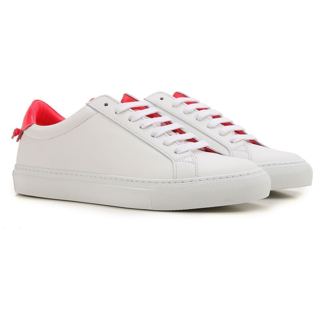 b7eec4a49bd79 PRE-OWNED GIVENCHY Urban Knots Leather Sneakers BE08219149-126 White ...