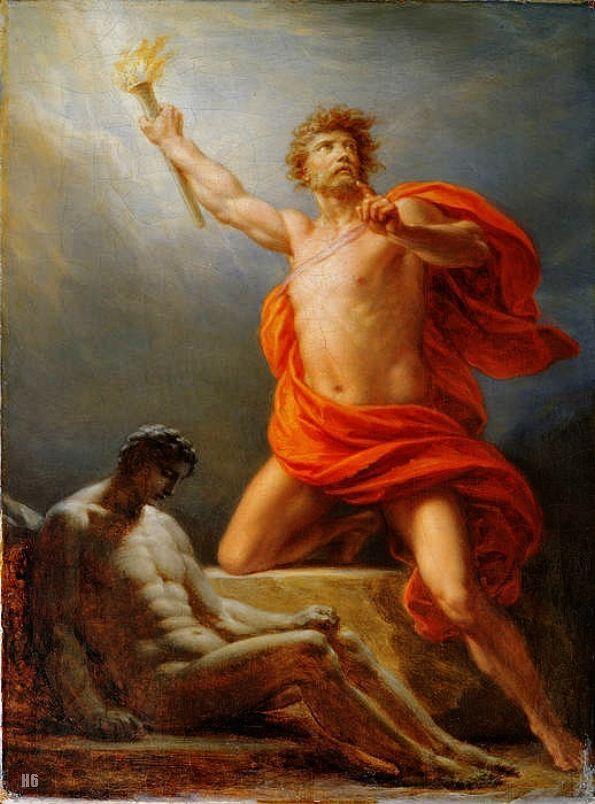 Heinrich Fuger Prometheus Brings Fire To Mankind Tags Prometheus