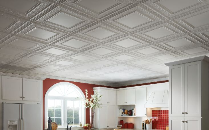metal ceiling tin ceiling armstrong metallaire white tin suspended ceiling - Armstrong Drop Ceiling
