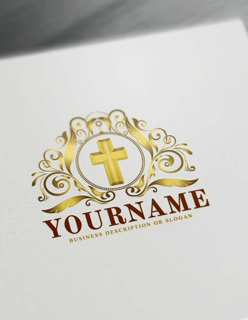 Create Your Own Cross Logo With Free Logo Maker Logo Maker Church Logo Logo Design Free