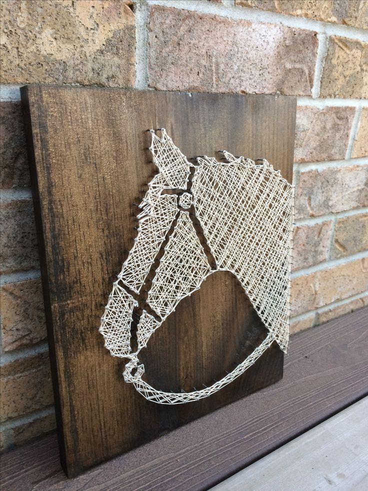 String Art Rustic Horse Head Available