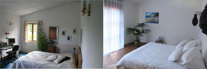 Bedroom - before and after