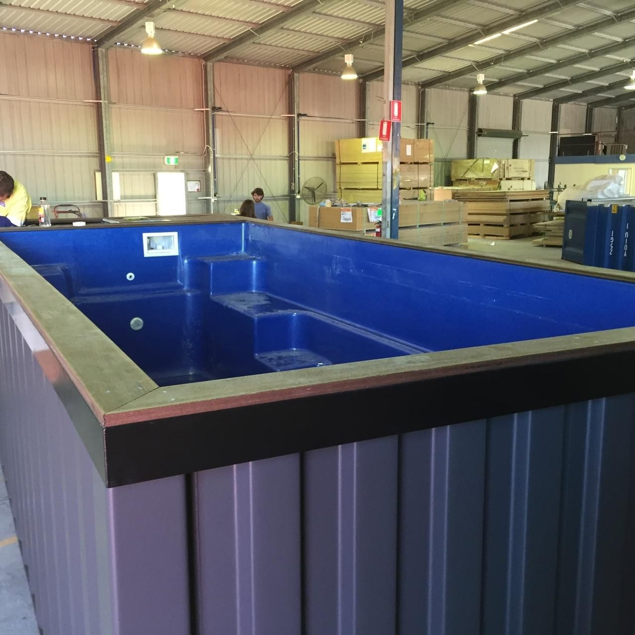 Summer Upcycling at it's Best Shipping Container Pool