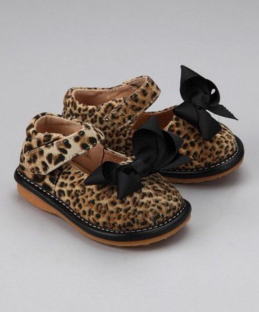 d1209759bc Take a look at this Leopard   Black Bow Squeaker Mary Jane by Laniecakes on   zulily today!