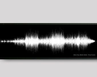 Custom Song Sound Wave Art Print