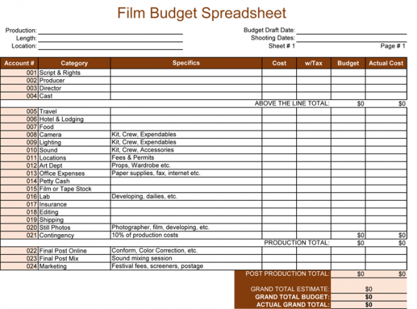 Pin By Template On Template Pinterest Budget Spreadsheet
