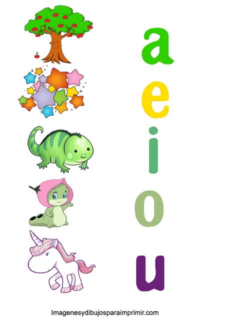 Memoramas De Vocales Para Imprimir Imagenes Y Dibujos Para Imprimir Imagenes De Las Vocales Actividades De Lectura Preescolar Vocales Para Ninos