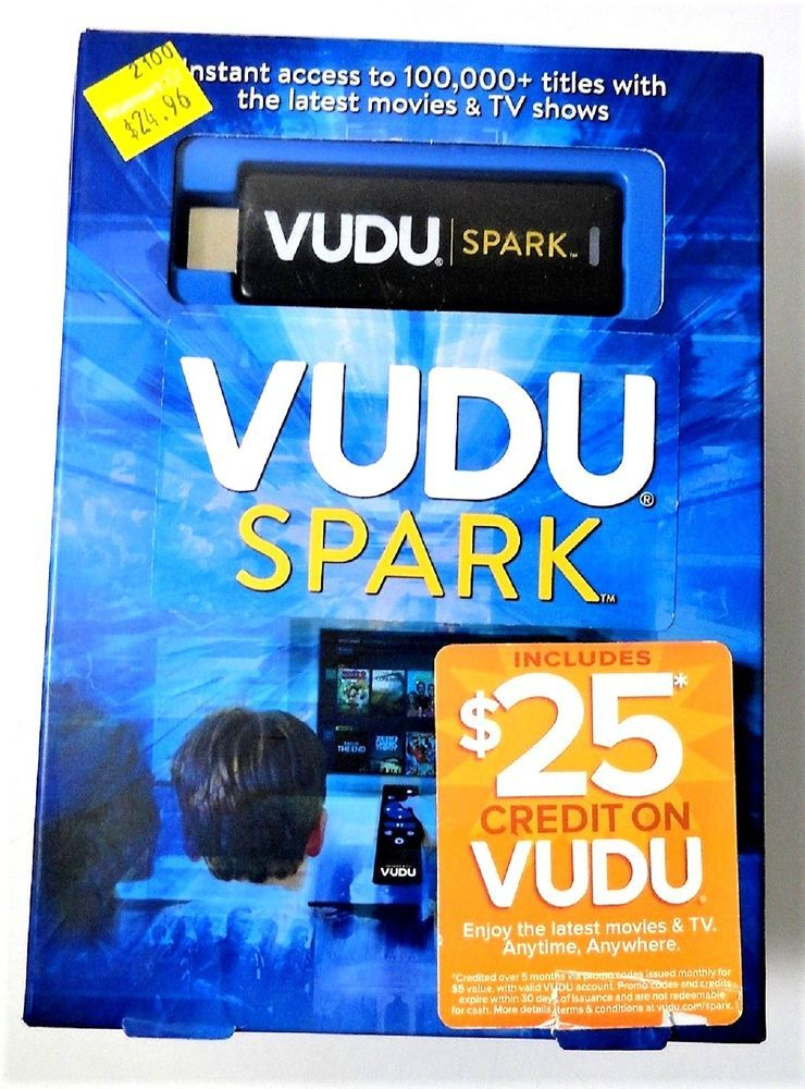 Vudu Spark Digital Media Streamer Streaming Stick
