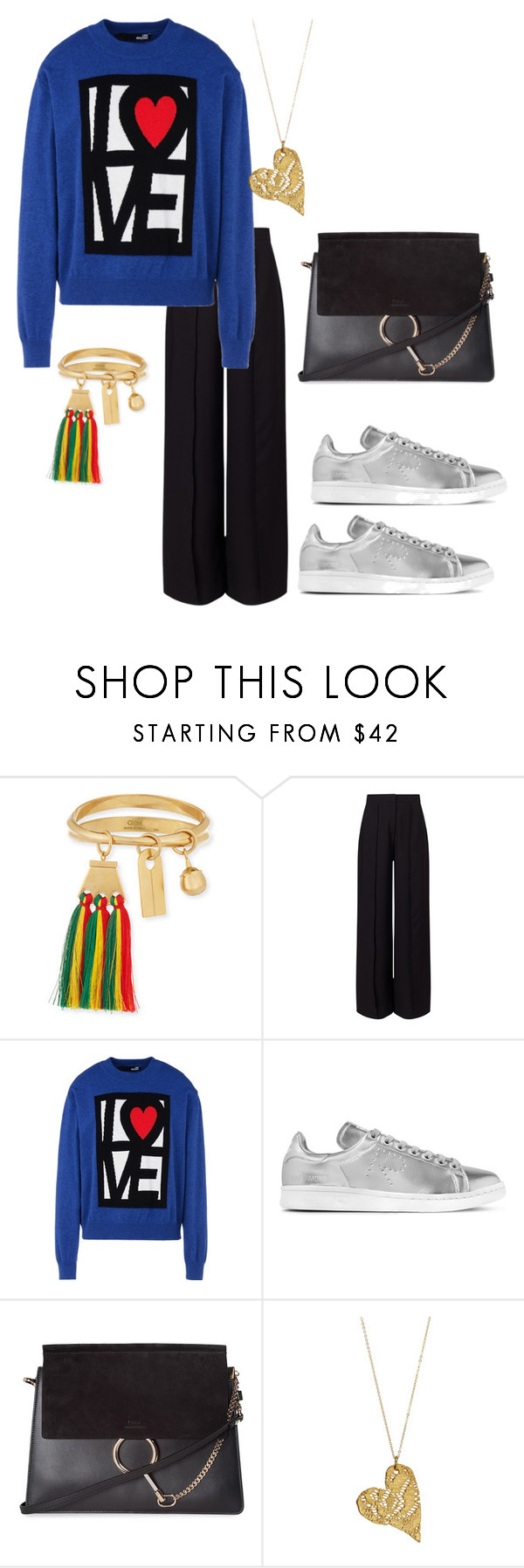 """""""Untitled #3374"""" by emma-oloughlin ❤ liked on Polyvore featuring Chloé, Miss Selfridge, Love Moschino, adidas Originals, ootd, fabulous, CasualChic and SundayStyle"""