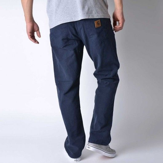 c8f4b4ffde0 CARHARTT Texas Pant II color denim dark navy rinsed Turner straight fit  79,00 €