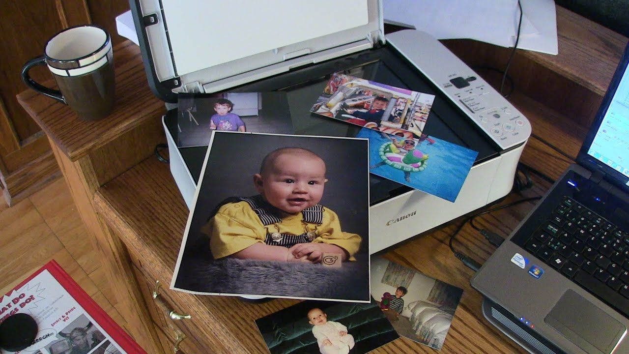 How To Scan A Picture Document Into Your Computer Windows 7 Windows Baby Pictures Printer Scanner