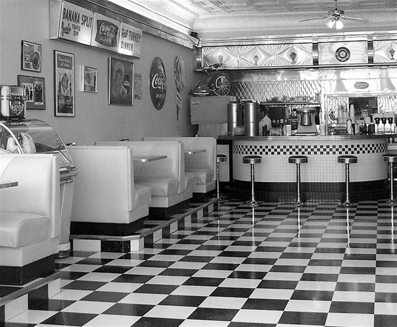 1950 39 s diner interior 1950s pinterest 1950s diner diners and 1950s. Black Bedroom Furniture Sets. Home Design Ideas