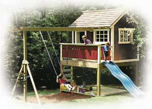 Find This Pin And More On Outdoorlandscaping Outdoor Wooden Playhouse Plans Gallery