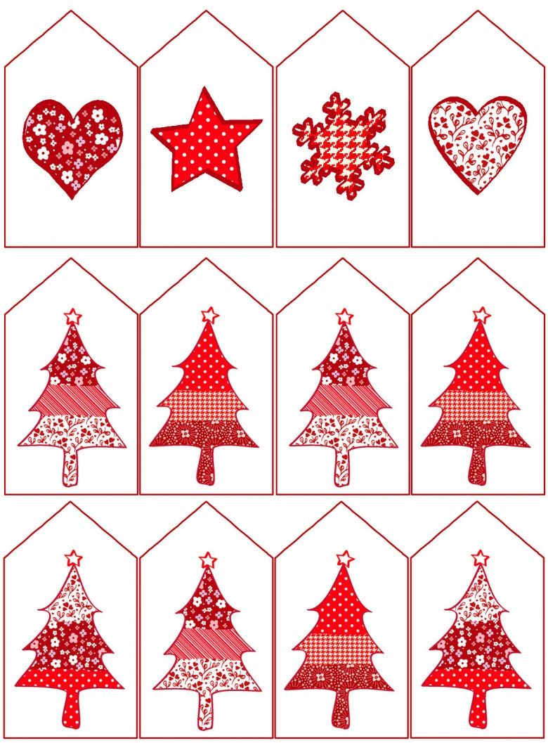 Red Christmas gift tags. Printable from Design Crafty.