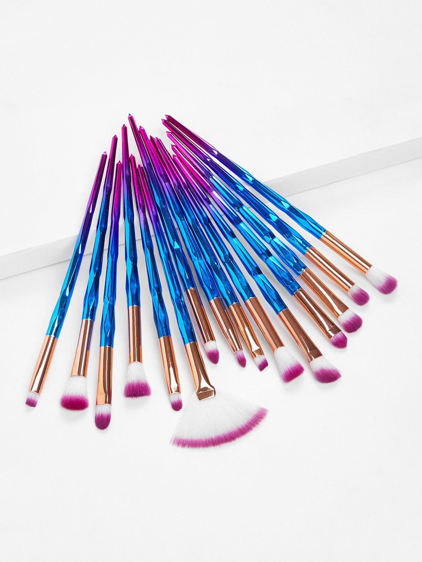Ombre Handle Makeup Brush Kit 15pcs Makeup brush kit