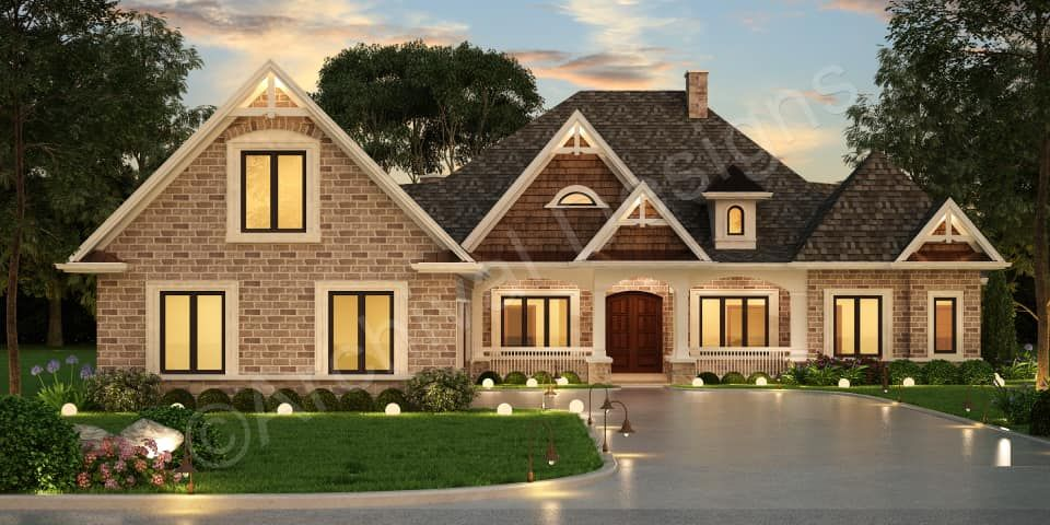 Ranch Floor Plan Courtyard House Retirement Home Design