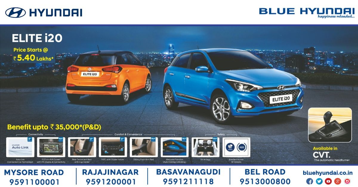 Hyundai Elite i20 price starts @ Rs 5 40lakhs* & Benefits