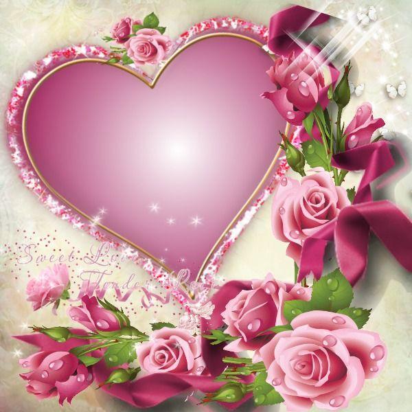 Romance In Bloom Floral Embellished Picture Frame
