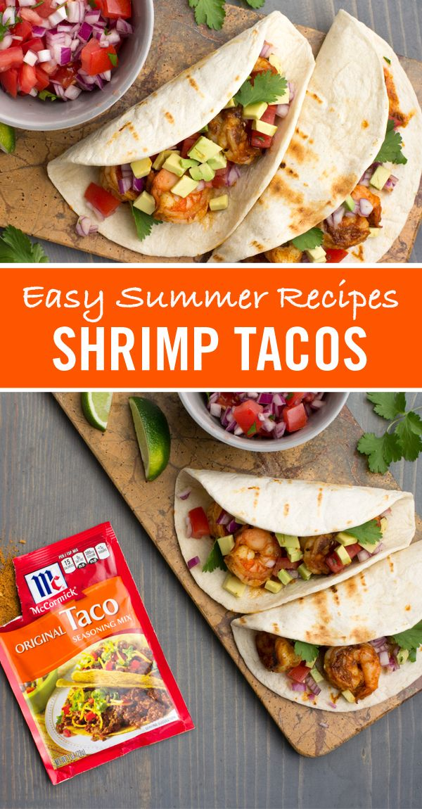 Tired Of Ordinary Ground Beef Tacos This Easy Shrimp Tacos Recipe Is Ready In Just 15 Minutes Perfect For A Busy Weeknight Din Recipes Food Easy Summer Meals