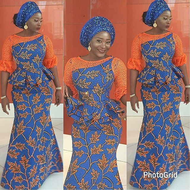 ee77650f767f4e Beautiful Stoned Ankara Skirt and Blouse Styles for Weddings. Check Out  This Creative Iro and