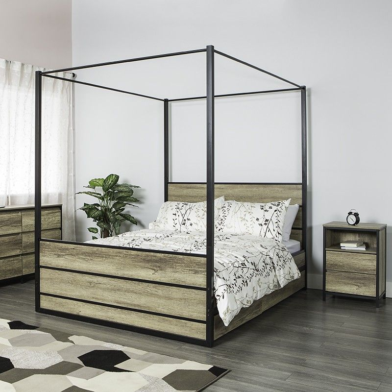 LULEA Canopy Bed Frame (Queen) | Bed Frames | JYSK Canada & LULEA Canopy Bed Frame (Queen) | Bed Frames | JYSK Canada ...