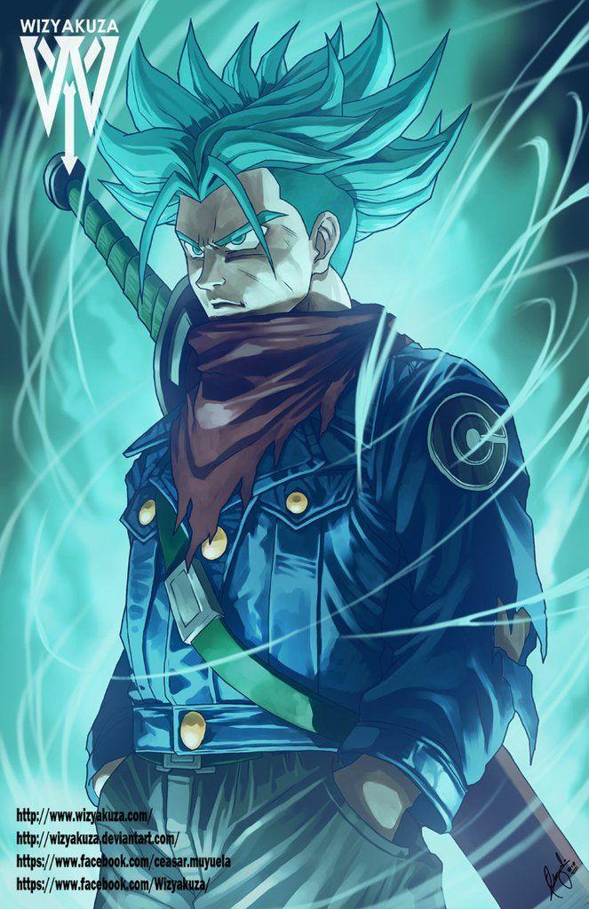 Future Blue Anime Dragon Ball Dragon Ball Art Dragon Ball