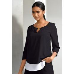 Alba Moda, Bluse im modischen Lagenlook, schwarz Alba Moda #shouldertops