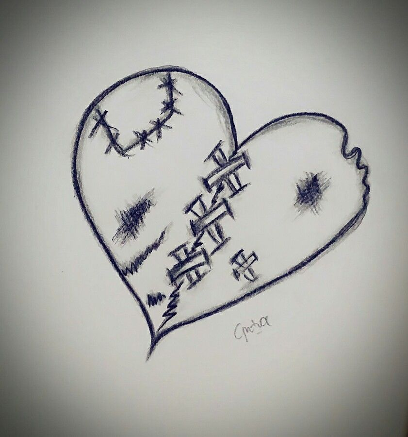 Don't patch too much of ur broken heart. They aint beautiful