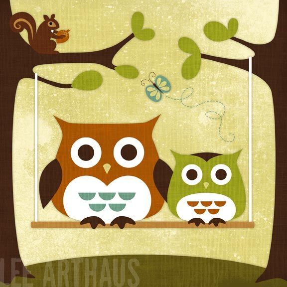 91 Two Owls on Swing