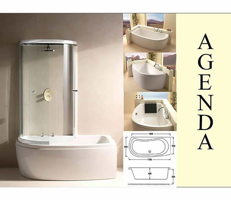 Carron Agenda 1700x700mm Corner Offset Shower Bath. Buy Corner Baths ...