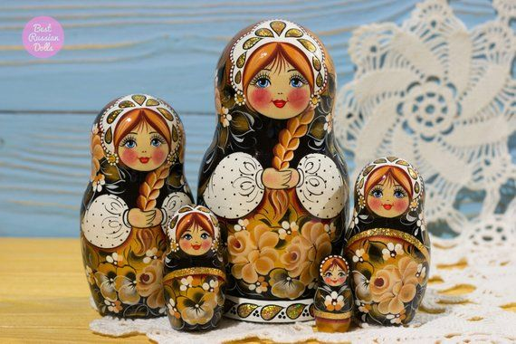 Matryoshka Cute Gift For Friend Handpainted Russian Nesting Doll