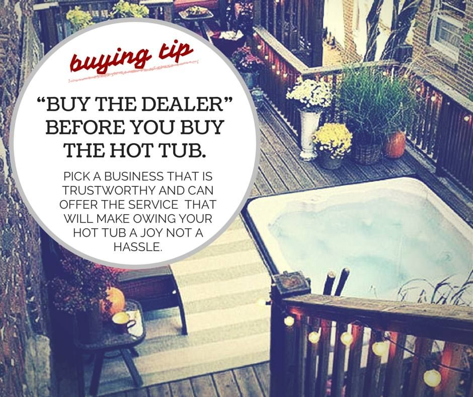 Tips on buying a hot tub ♥ Loved and pinned by www.hottubequipment ...