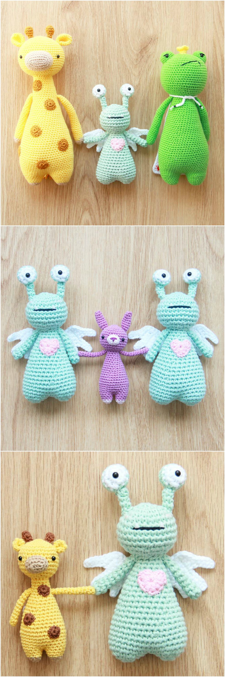Amor and other crochet patterns by Little Bear Crochets: www.littlebearcrochets.com ❤️ #littlebearcrochets #amigurumi