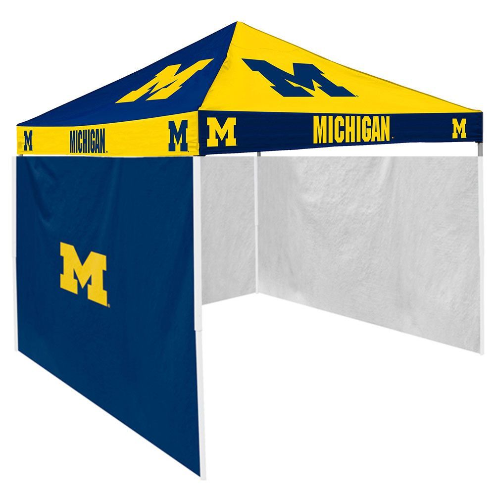Michigan Wolverines NCAA x Checkerboard Color Pop-Up Tailgate Canopy Tent With Side Wall  sc 1 st  Pinterest & Michigan Wolverines NCAA 9u0027 x 9u0027 Checkerboard Color Pop-Up ...