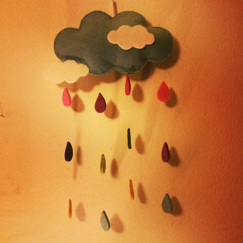Bulut Yagmur Damla Kece Keceden Bebekodasi Cocukodasi Pano
