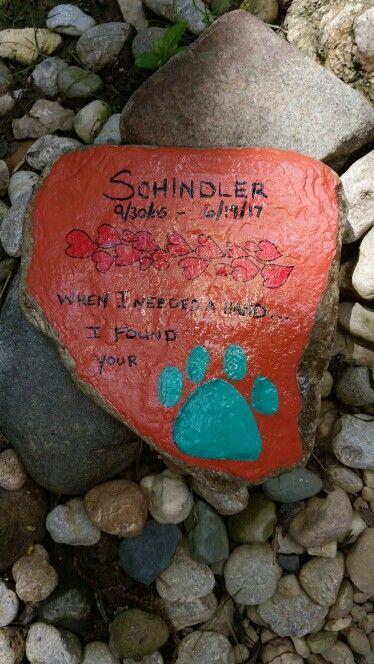 Pet Dog Memorial Painted Rock Painted Rocks Dog Memorial Painted River Rocks