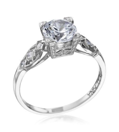 Michael C. Fina - Legacy Collection Platinum Filigree Squared Setting