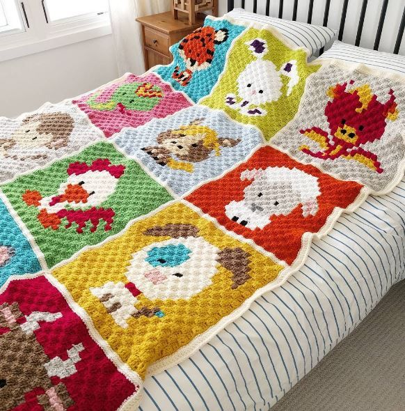 Crochet Your Own Zoodiacs Blanket Top Crochet Pattern Blog Abc