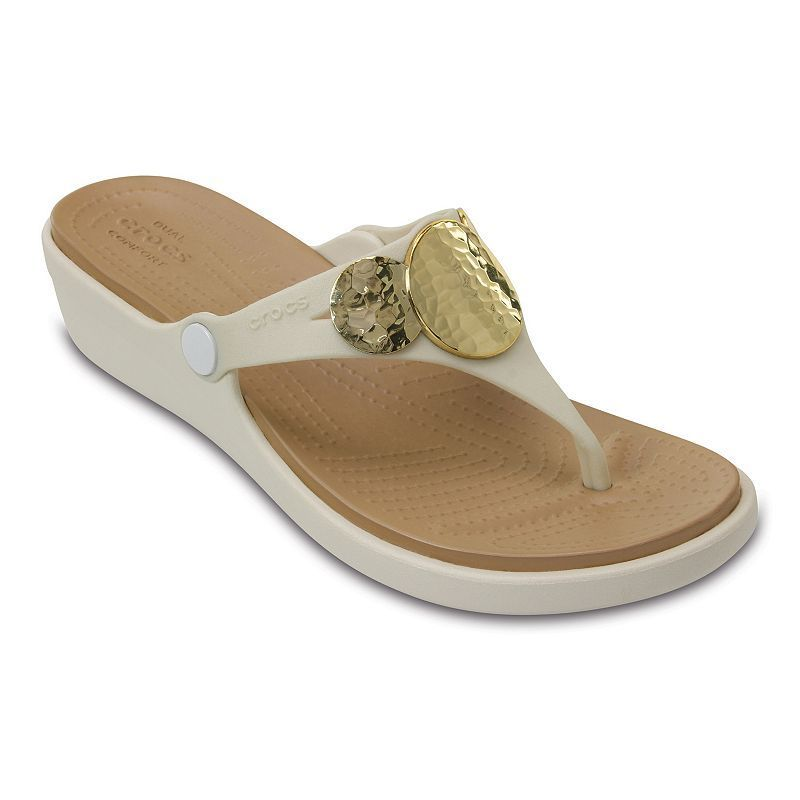 d68459be9ab3 Crocs Sanrah Hammered-Circles Women s Wedge Sandals