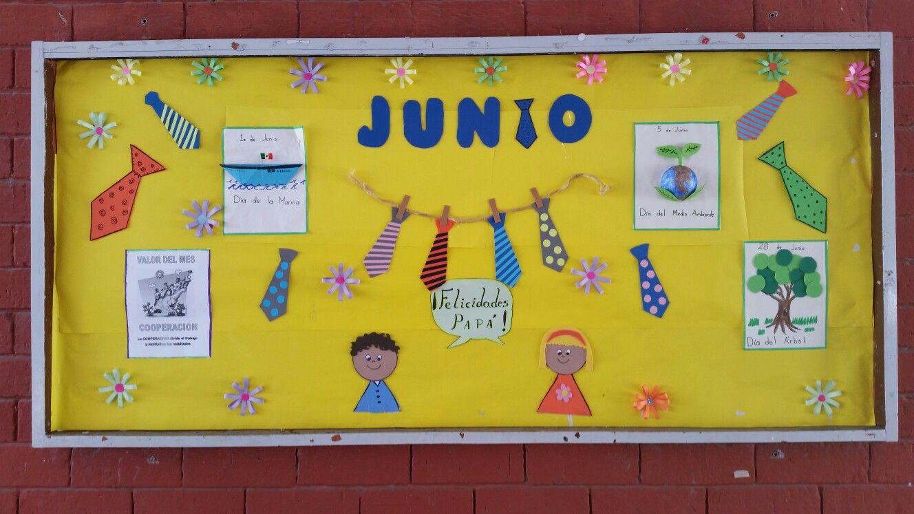Peri dico mural junio cuarto b pinterest periodico for Contenido del periodico mural