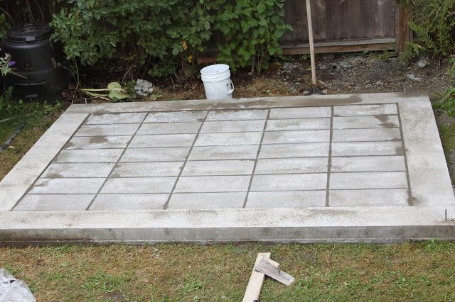 Diy Modern Shed Concrete Perimeter And Paving Stone Floor