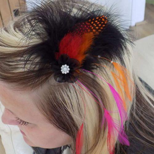 Feather Hair Clip Fascinator Style (Orange) #fascinatorstyles