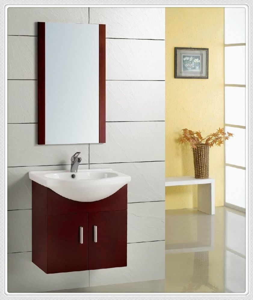 Inspiration Vanities With Red Cabinets And Single Sink | Bathrooms