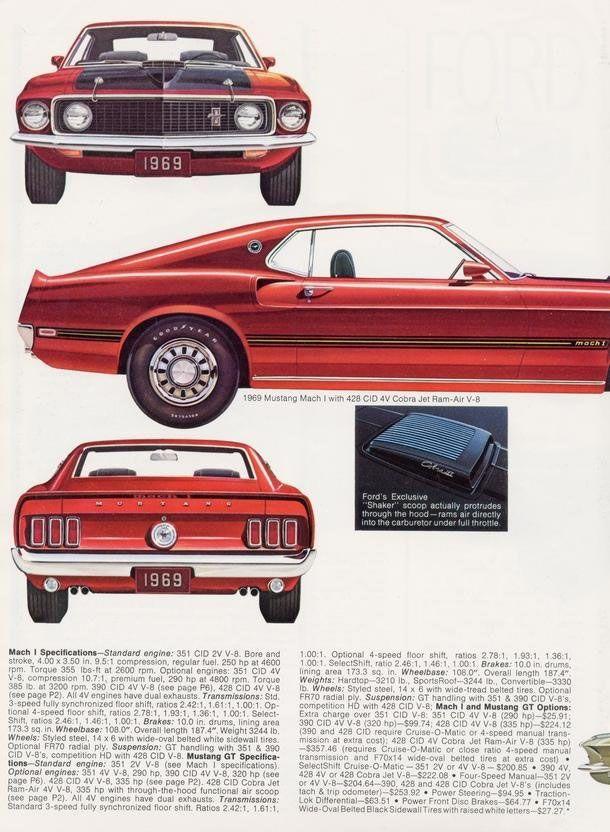 Mustang Car Ads  Old Car Ads Home  Old Car Brochures  Old Car
